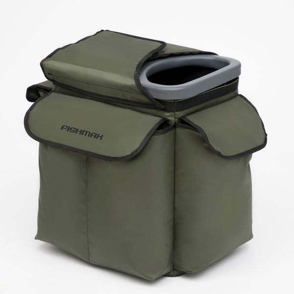 Backpack for ice fishing green